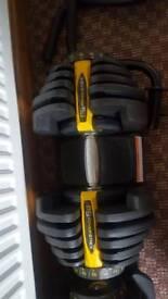 Bowflex style adjustable dumbells powerstack
