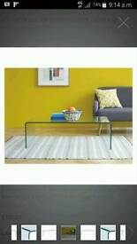 Habitat glass coffe table in very good condition
