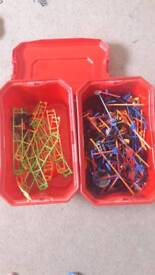 Knex with tracks and cars