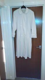 Cream Cotton Summer Trench Coat