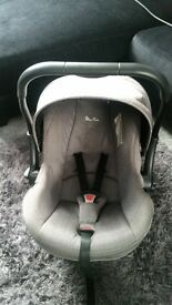 car seat and rain cover