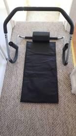 Ab roller manual sit up frame
