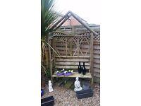 Garden seat frame