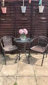 Table and chair set garden