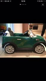 Kids electric mini Cooper...