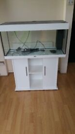 Juwel rio 180 litre fish tank and stand in excellent condition gloss white
