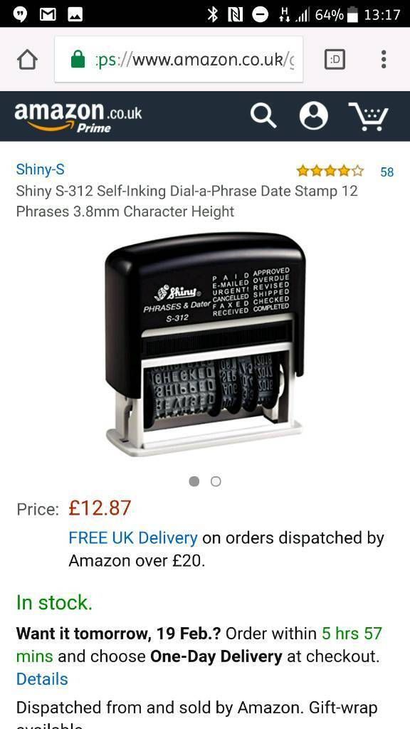 New Self Inking Date Stamp