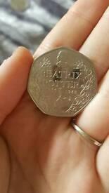 Beatrix Potter 50 pence