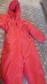Red Regatta waterpeoof snowsuit (age 3-4 years)