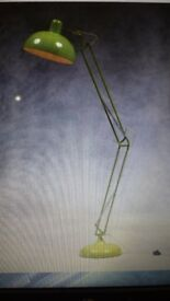 new angled poise lamp,,,lime green....6 feet tall