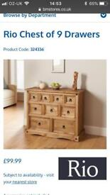 Rio shelf, chest of drawers & coffee table