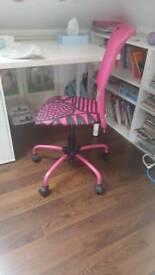 IKEA PINK GIRLS CHAIR SWIVEL TORBJORN