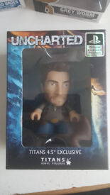 "Uncharted Titans 4.5"" Exclusive Vinyl Figure, Nathan Drake, Mint in Box"