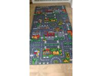 Kids play mat for cars