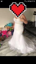 Wedding dress and veils
