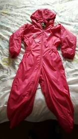 Girls Trespass Waterproof All in one. Age 5-6 years.