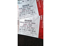 2 x Russell Howard tickets March 13 Cardiff block a row j 10 rows from stage motorpoint arena