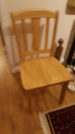 4 x wooden chairs for sale