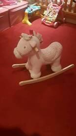 Girls rocking horse