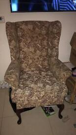 Old wing back arm chair
