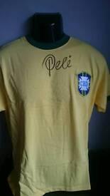 Pele signed 1970 Brazil shirt with Coa