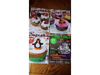 Bundle of cake decoration and cupcake magazines