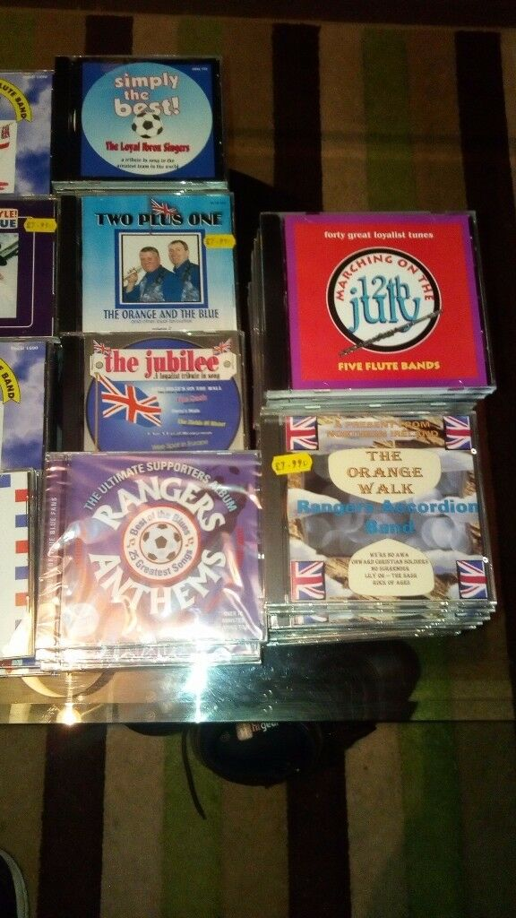 Orange CDs all brand new