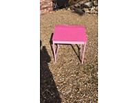 Pink child's desk