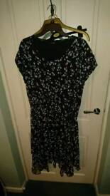 Dipped hem plus size tea dresses UK 22 worn once