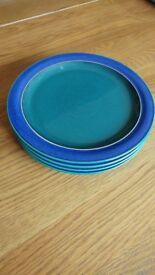 4 Denby Metz Dessert/Breakfast Plates