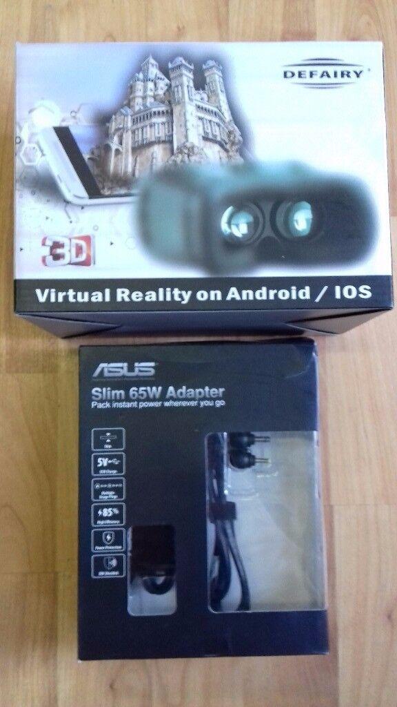 "!_(£15)Asus 65W Slim Notebook Power adapter + DEFAIRY 360"" Virtual Reality Headset_!"