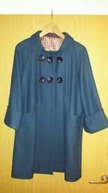 Blue wool coat - like new
