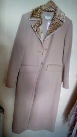 Marks and spencers new long coat wheat colour size 10 with tags