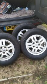 4x alloys and tyres