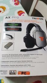 Triton Ax Pro dolby gaming headset hardly used