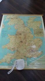 VINTAGEPICKFORDSWAY MAP OF GREAT BRITAIN