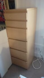 Tall narrow chest of drawers