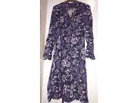 Elegant Laura Ashley Soft Long Sleeve Dress NEW, size 10