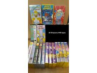 20 The Simpsons VHS tapes Videos - Great collection including rare Star Wars episode