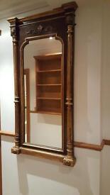 Antique style large mirror