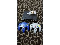Nintendo 64 bit with 2 joystick