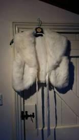 Cream faux fur bolero