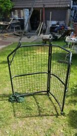 ford transit connect cage bulkhead cage with hinged opening