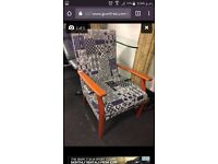 Wanted wooden arm chair