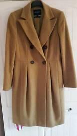 Hobbs camel coat size 12