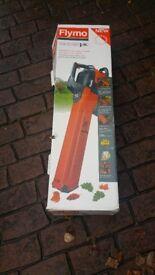 Flymo 3 in 1 garden vac leaf blower boxed