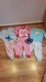 3-4 years pyjamas for girls and slippers frozren size 5