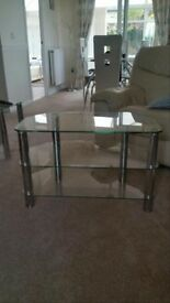 Glass Table TV Stand (good condition)