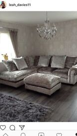 ** immaculate **Laurence Llewelyn-Bowen Scarpa Left- Hand Corner Chaise Sofa