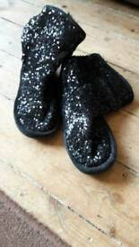 Girls Next black sequin boots